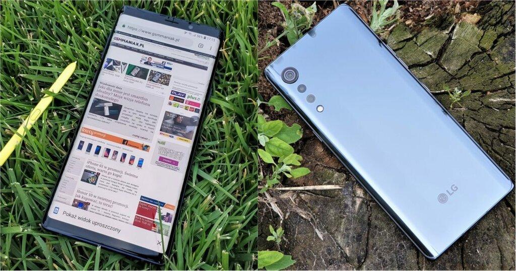 Samsung Galaxy Note 9 i LG Velvet 5G smartfon